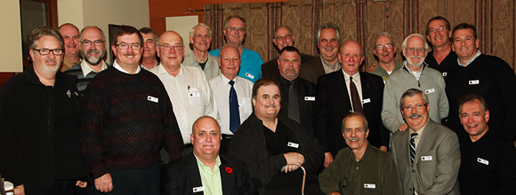 The LOONS Flyfishing Club pose for group photo at the LFFC 25th Anniversary Celebration